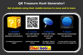QR codes for scavenger hunt