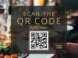 QR code for contactless menu