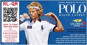 QR code in Ralph Lauren ad